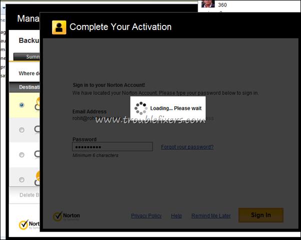 online storage activation