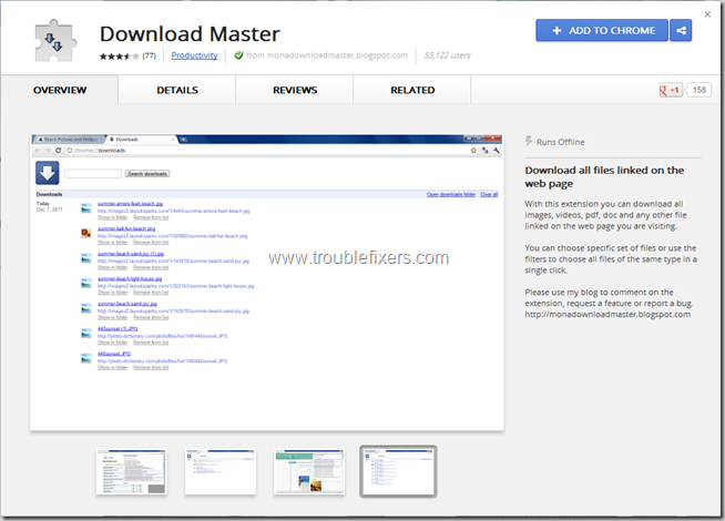 download master for google chrome