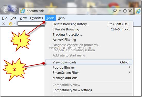 locate file downloaded using Internet Explorer browser