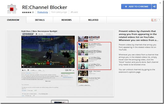 youtube channel blocker