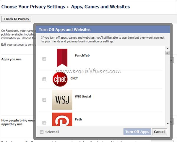 Block Apps, Games Notifications on Facebook