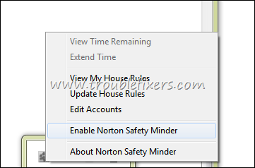 Norton Safety Minder Enable or Disable