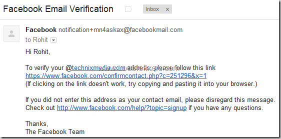Show Hide Any Email Address on Facebook (10)