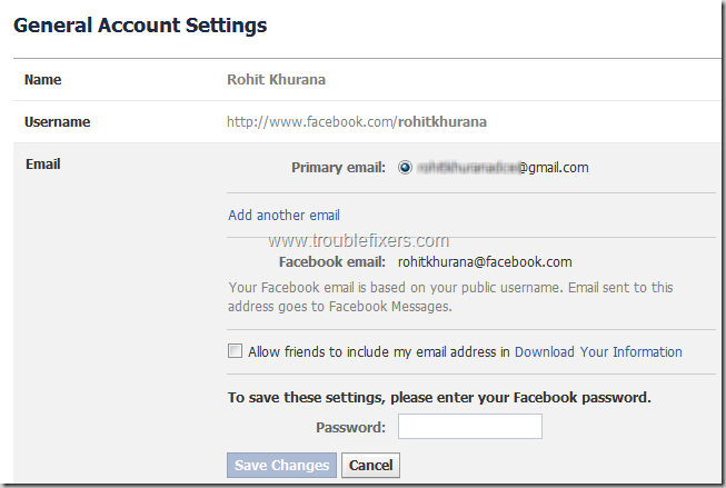 Show hide any email address on facebook profiletimeline show hide any email address on facebook 8 ccuart Images