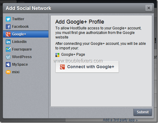 Add Google Plus Profile
