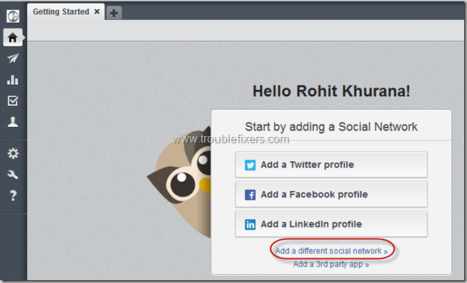 Add Social Profile