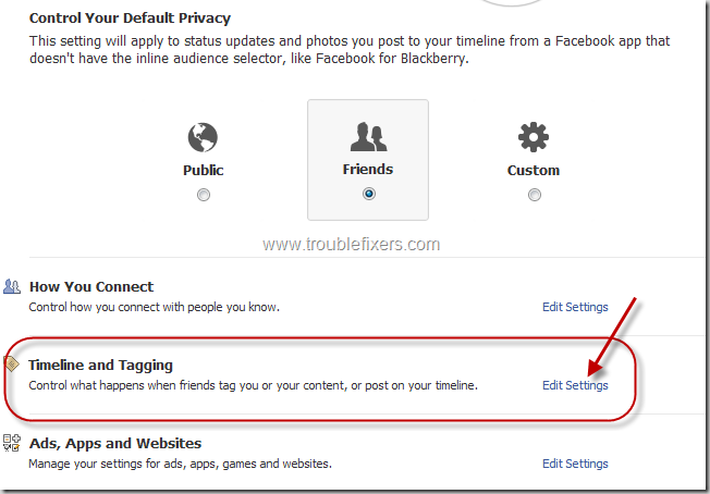 Change Privacy Settings In Facebook