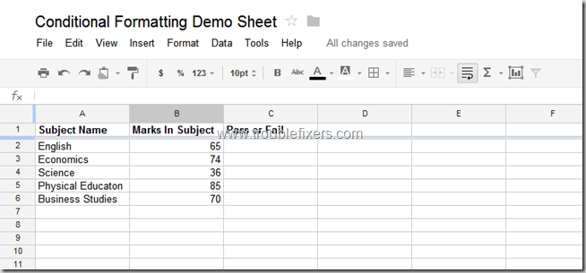Conditional Formatting In Google Drive Sheets or Gsheets (1)
