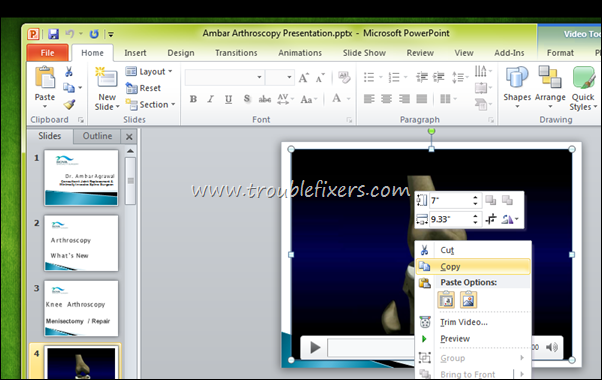 Copy Media File From PPT To Desktop