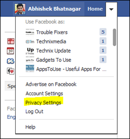 Facebook Account Privacy Settiings