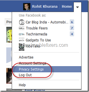 Privacy Settings In Facebook