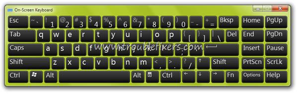 Stop On Screem Keyboard When Windows Start