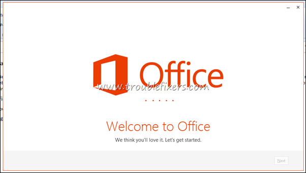 welcome to office 2013