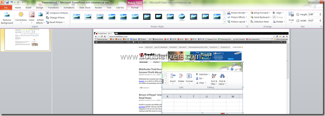 Include Screen Shots In MS Office 2010 (6)