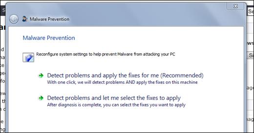 Malware Prevention Windows