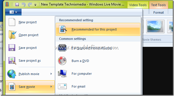 Recommended Format Video In Movie Maker