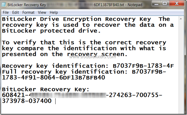 Sample Recovery Key