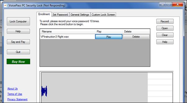 Voice Lock Password In Windows