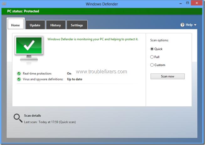 Windows Defender In Windows 8(7)