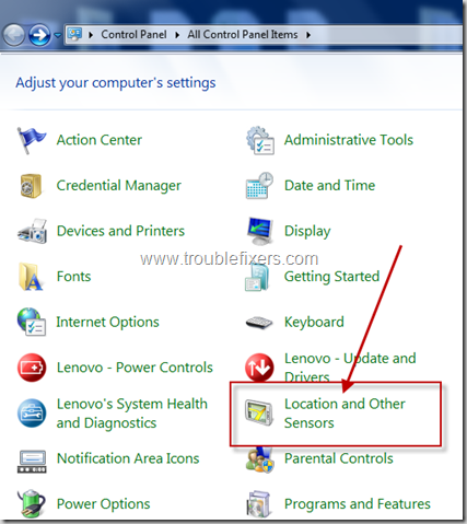 location and sensors in Windows 8 and Windows 7 (3)