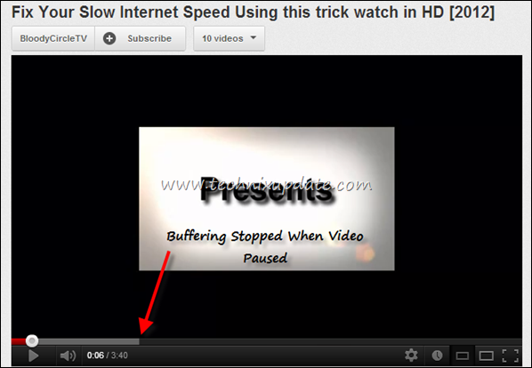 Fix Buffering Stopped When Youtube Video Paused