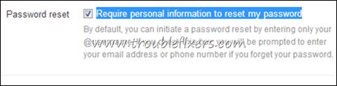 Password Reset Options Twitter