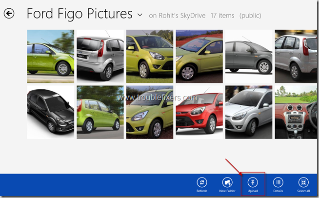 Quikcly Upload Pictures To Sky Drive in Windows 8 (3)