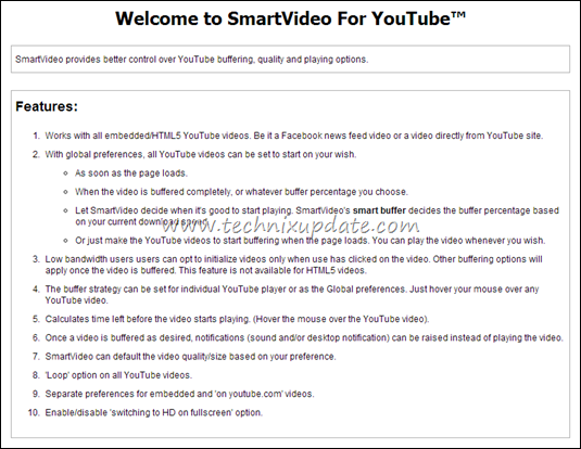 Smart Video Buffering Options For Youtube Video