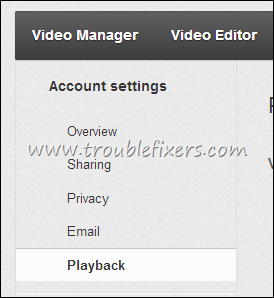 Youtube Video Playback Settings