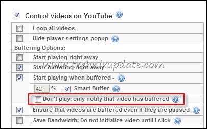 dont play the video but notify after full buffering