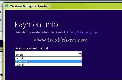 windows 8 payment