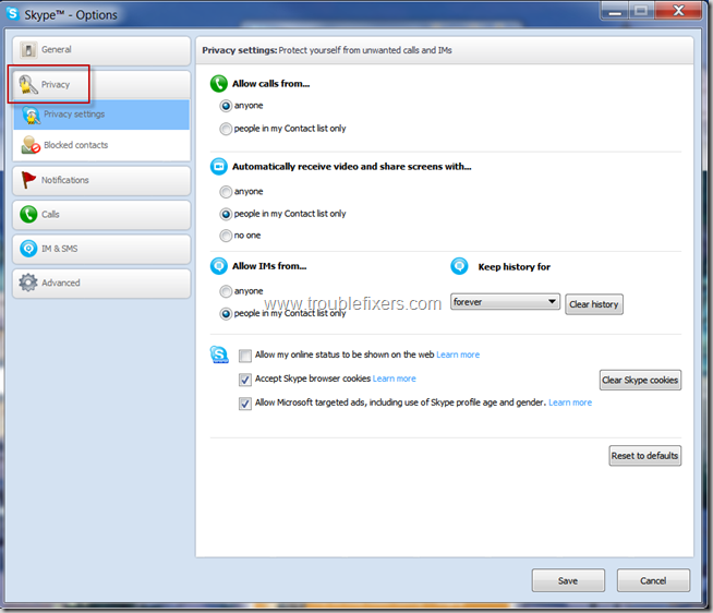 Skype Privacy Settings (3)