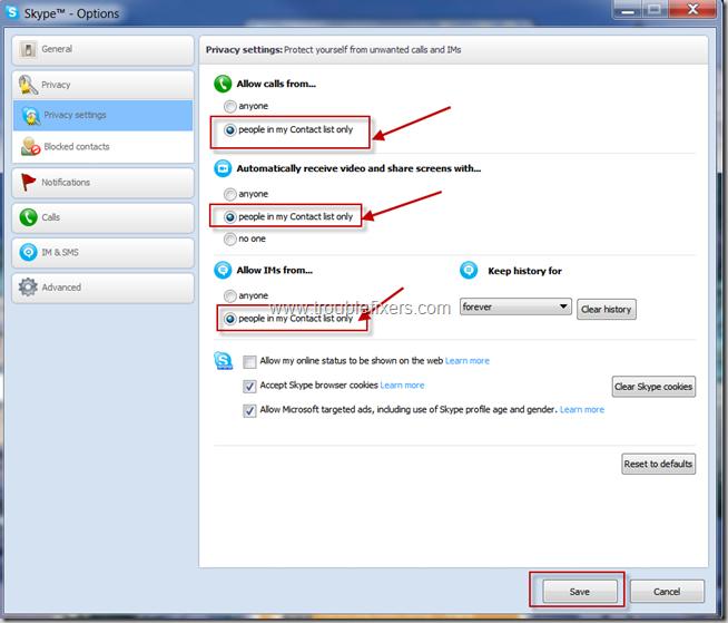 Skype Privacy Settings (4)