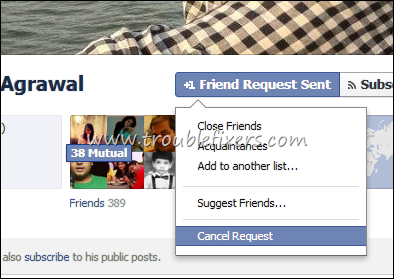 cancel friend request