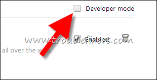 developer mode google chrome