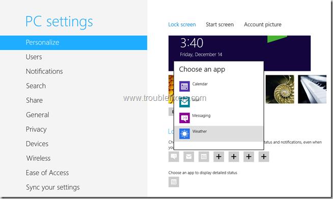 Add Apps to Windows 8 Lock Screen (2)