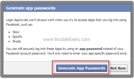 Set Facebook App Password (5)
