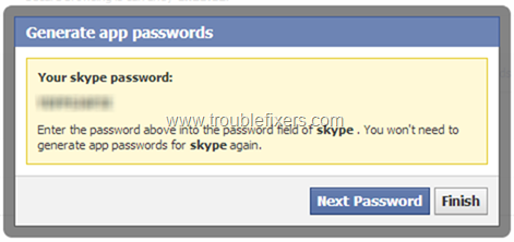 Set Facebook App Password (8)
