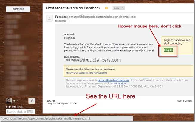 FB Phishing Attack