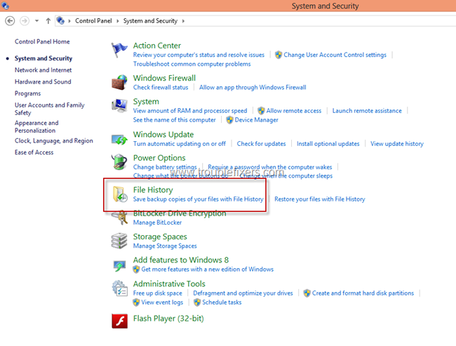 Windows 8 File History Backup and Restore Features (1)