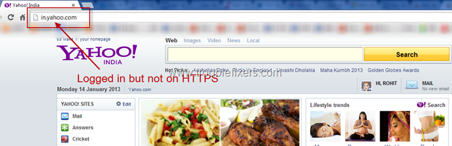 Yahoo Mail without SSL