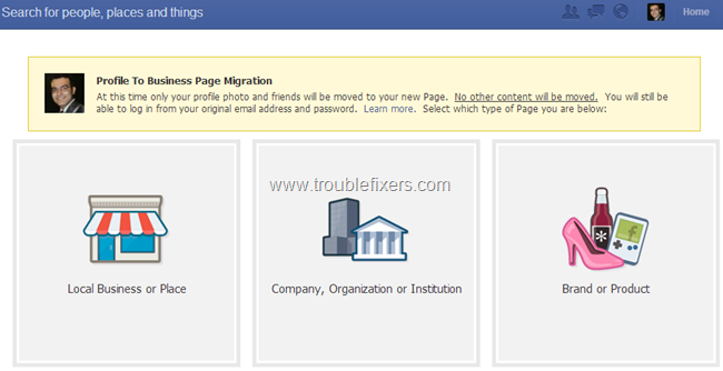 FB Migration Page