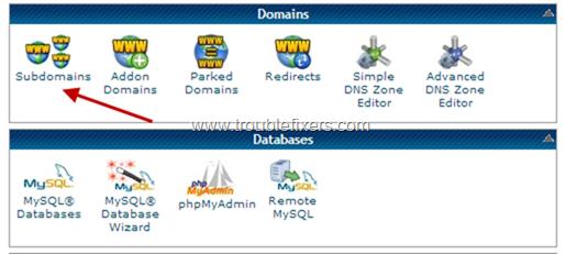 Create Sub-domain