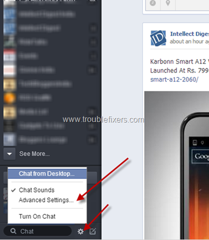 Disable or Enable Facebook Chat  (1)