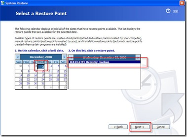 select-restore-point