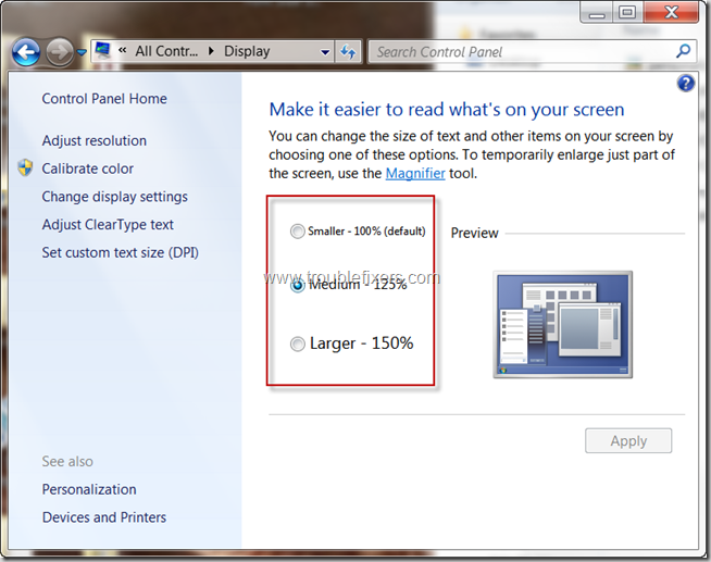 select-font-size-in-windows-7
