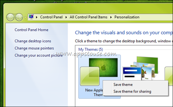 Give Windows 7 Unsaved Theme A Name
