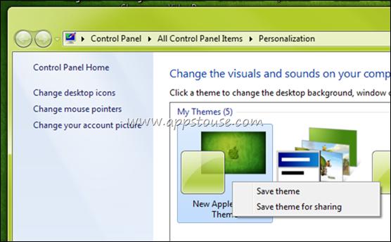 Give Windows 7 Unsaved Theme A Name