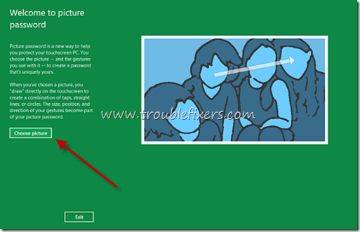 Mouse or Finger Gestures To Login In Windows 8