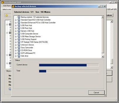 driverbackup running thumb - Backup Device Drivers Before Windows Reinstall or